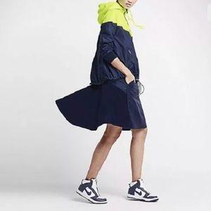 NIKE X SACAI Wool Drawstring Flared Skirt